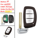 3 buttons FSK 433MHZ  Vera ELANTRA Smart Remote key For Hyundai