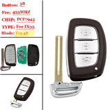 3 buttons FSK 433MHZ ix35 Smart Remote key For Hyundai