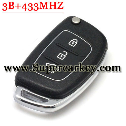 Genuine Folding Remote Key 3 Button For Hyundai,Kia NO Blade