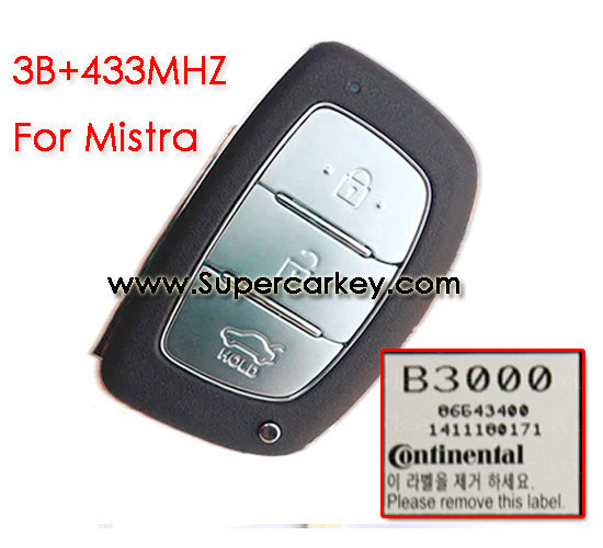 3 button remote key for Mistra with 433mhz  for Hyundai