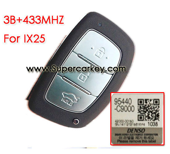 3 button remote key for IX25 with 433mhz for Hyundai