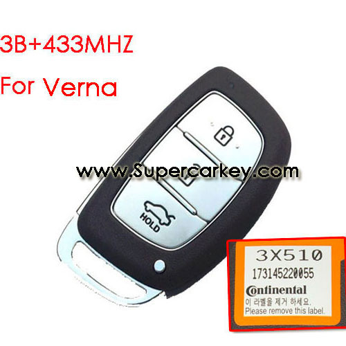 3 button remote key for Verna with 433mhz for Hyundai