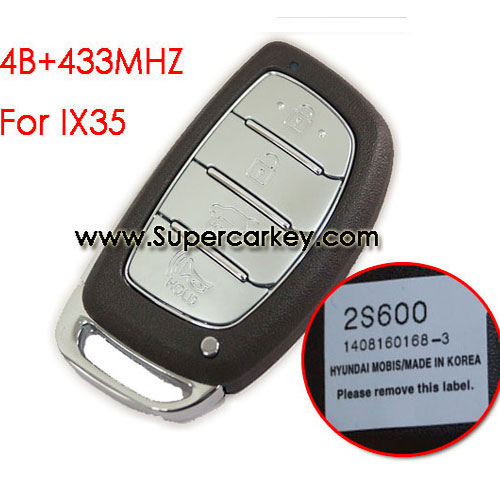 4 button remote key for IX35 with 433mhz for Hyundai