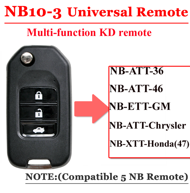 NB10  3 Button Remote For KD900 Machine(Universal Type)