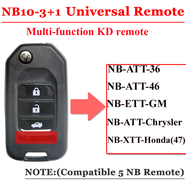 NB10 4 Button Remote For KD900 Machine(Universal Type)