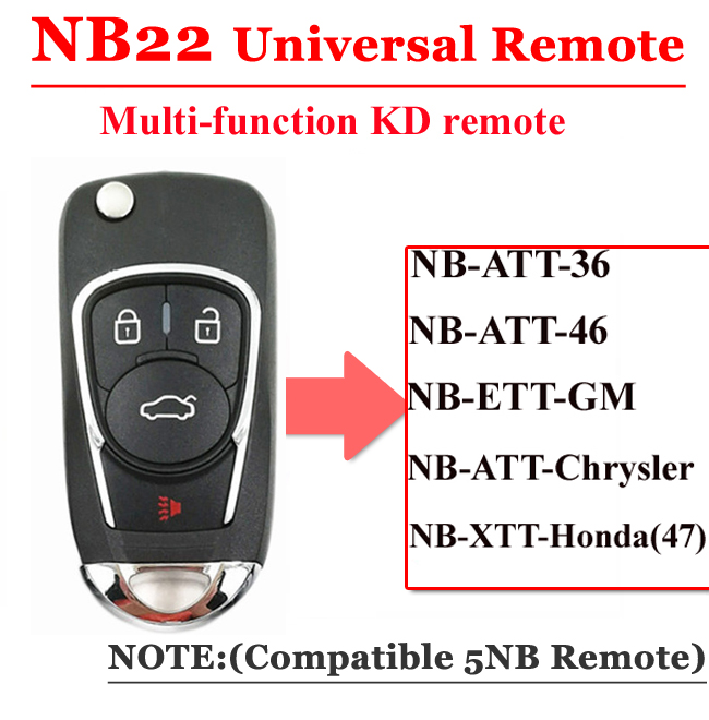 NB22 4 Button Remote For KD900 Machine(Universal Type)