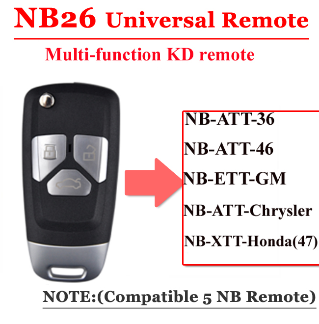 NB26 3 Button Remote For KD900 Machine(Universal Type)