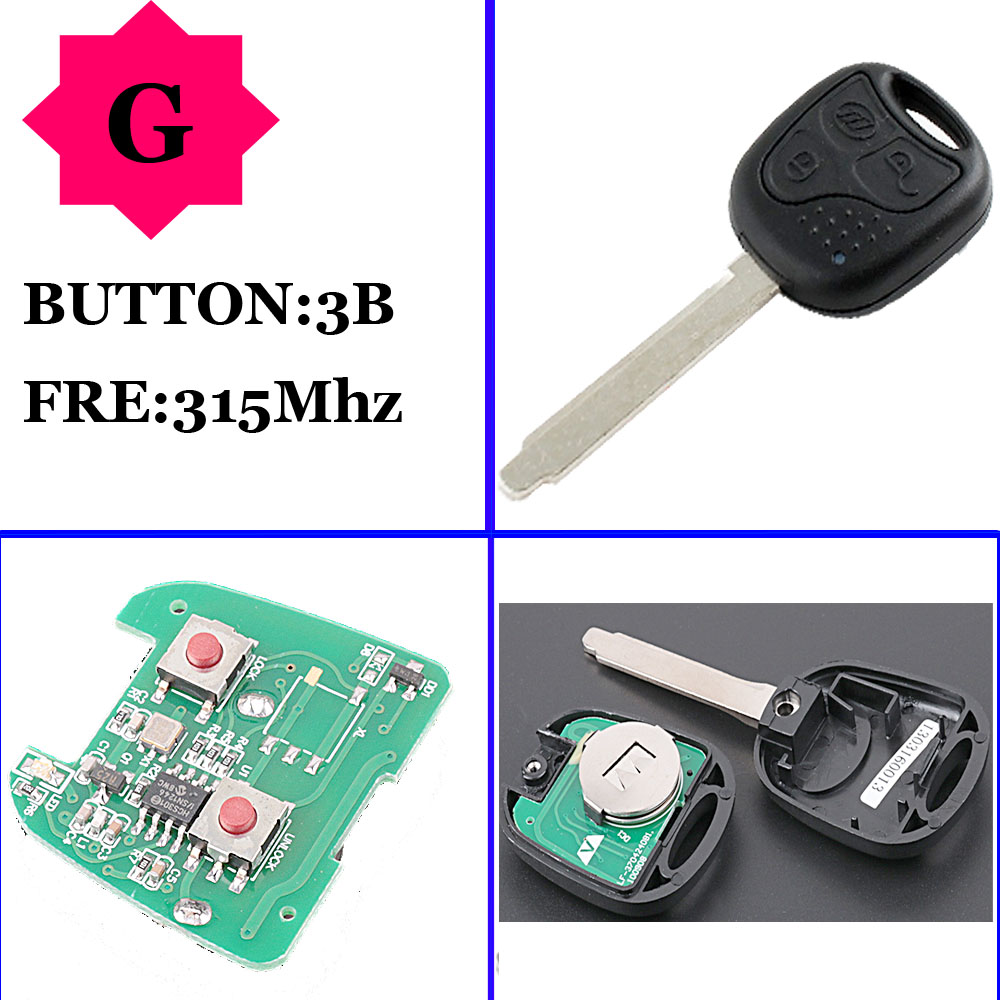Genuine Lifan 3 button remote key