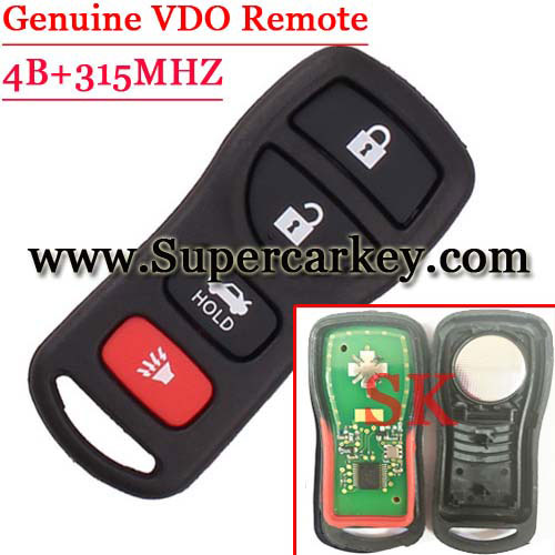 Geniune Remote 4 Button Keyless FOB Remote For Nissan(VDO)