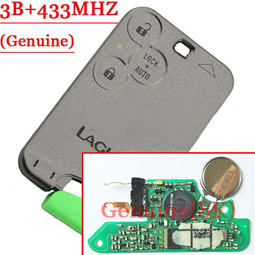 Genuine 3 Button Smart Card For Laugna Card 433MHZ