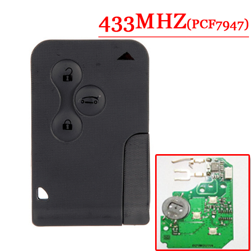 Original parts 3 Button Remote Smart Card With PCf7947 For Renault Megane Without Logo