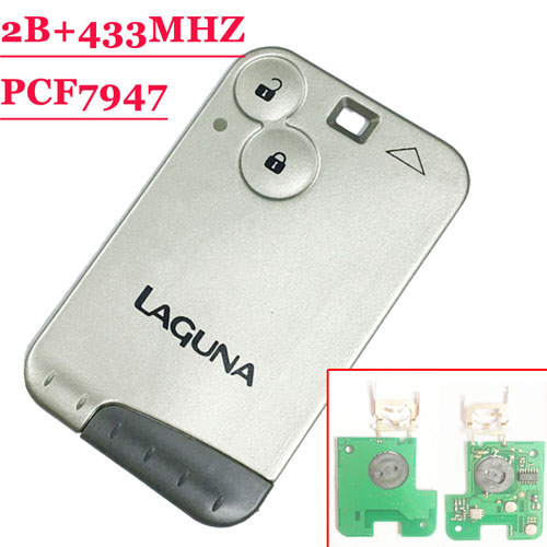 Excellent Quality 2 Button Remote Card With PCF7947 Chip 433MHZ For Laguna Card Gery Blade