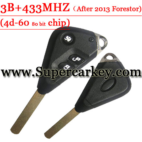 3 Button Remote Key with 433MHZ For Subaru Forestor 4D-60 Chip