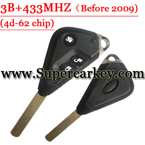 3 Button Remote Key with 433MHZ For Subaru Forestor 4D-62 Chip
