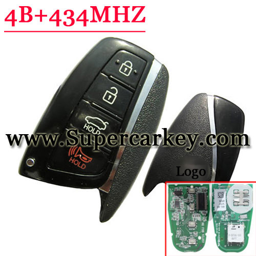Genuine 4 Button Smart Card 434MHZ For Hyundai Setafee
